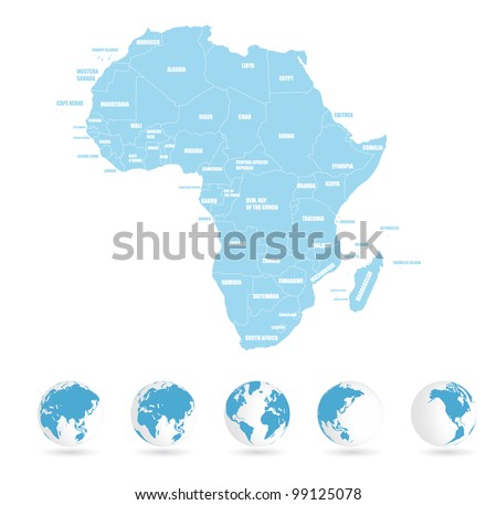 Earth background, africa