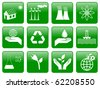 Earth conservation and ecology icon set - stock