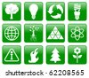Earth conservation and ecology icon set - stock photo