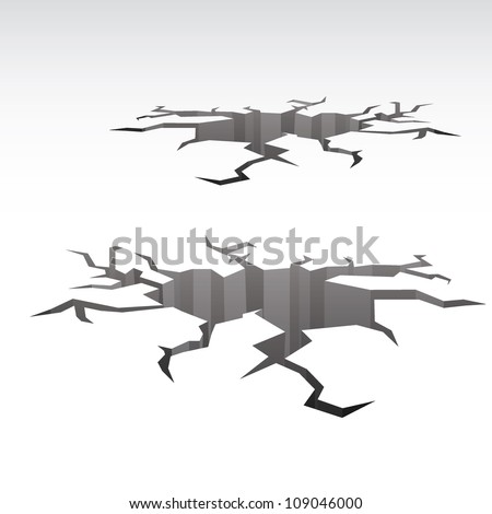 Ground crack vector