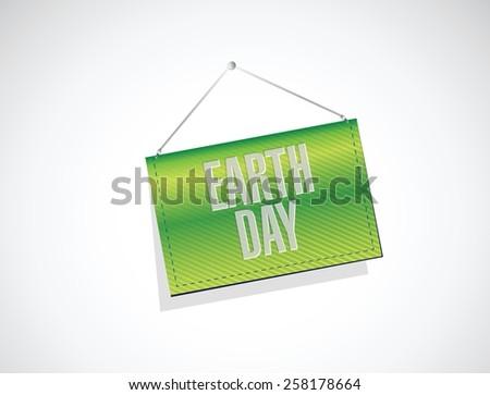 earth day banner sign illustration design over white - stock vector