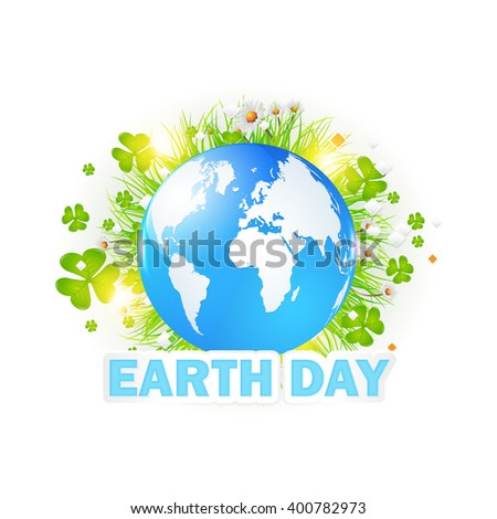 Earth Day Concept Vector Illustration