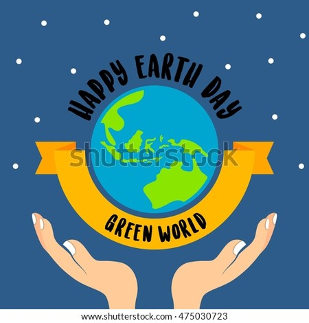 Earth day poster design template. World environment day.