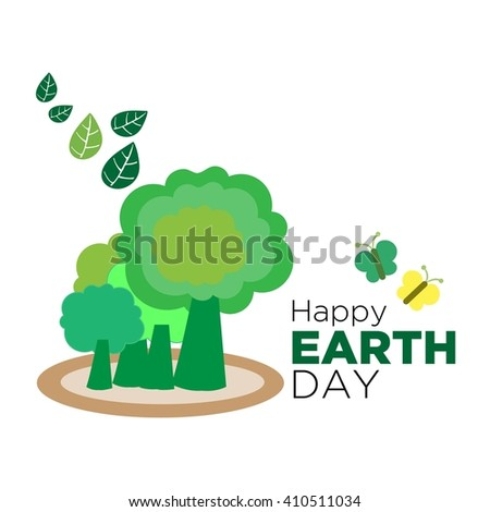 Earth day Poster Template  - stock vector