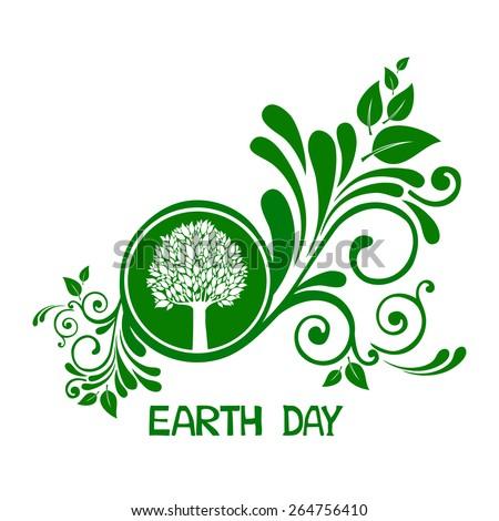 Earth day.  Vector Illustration - stock vector