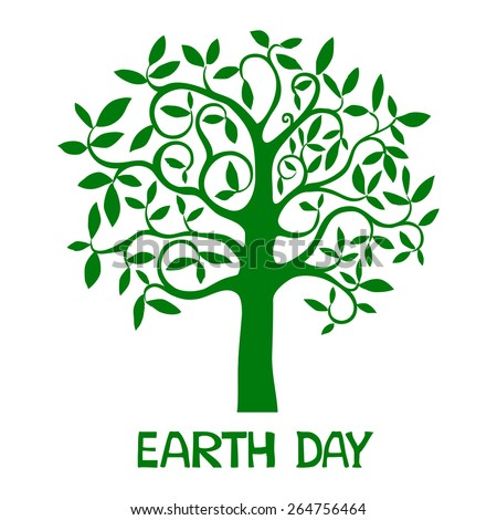 Earth day.  Vector Illustration - stock vector