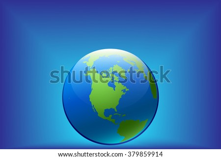 Earth Day vector illustration blue design - stock vector