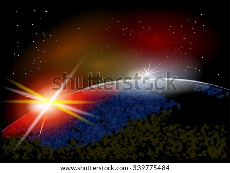 Earth from space. - stock vector
