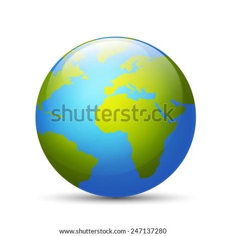 Earth globe - stock vector