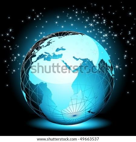Earth globe background - stock vector