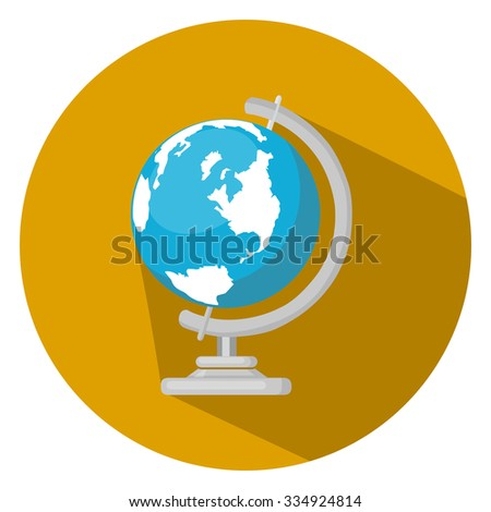 Earth globe ball icon - stock vector