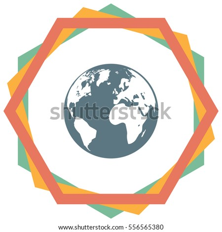 Earth Globe icon. Mother earth sign. Planet symbol