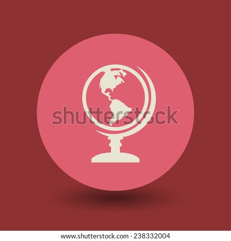 Earth globe icon or sign, vector illustration - stock vector