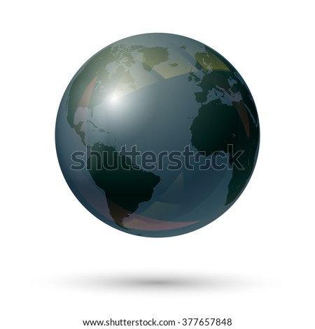 Earth globe icon. Planet Earth. Globe of the world. Vector illustration. - stock vector