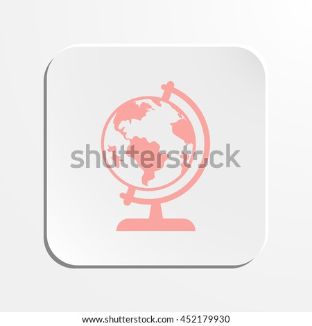 Earth globe icon stock vector illustration