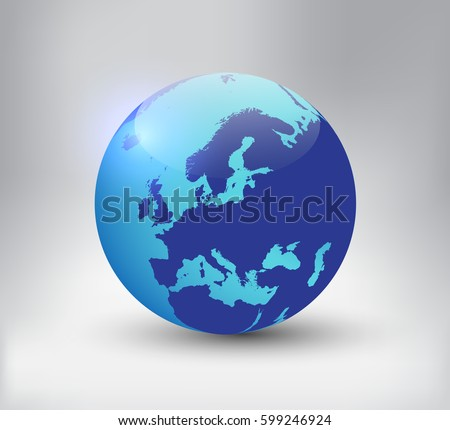 Earth globe icon map europevector world vectores en stock 599246924 earth globe icon with map of europector world globe gumiabroncs Choice Image