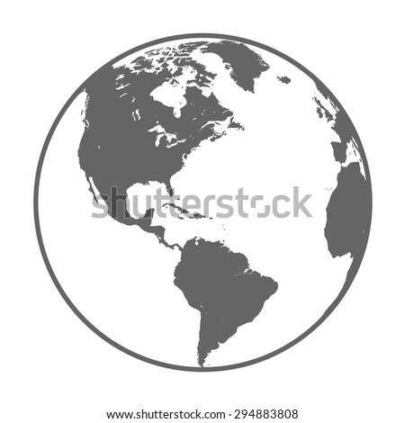 Earth globe symbol - stock vector