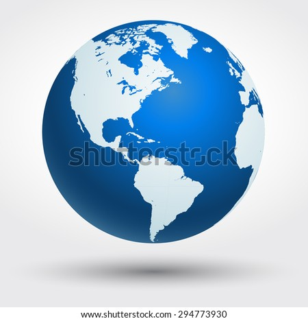 Earth globe vector icon - stock vector