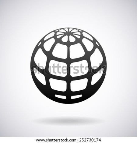 Earth globe vector logo design template - stock vector