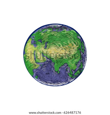 Earth hand drawn on white background stock vector 626487176 earth hand drawn on white background world map or globe in doodles style environment gumiabroncs Gallery