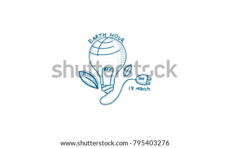 Earth Hour 60 Minute Template Stock Vector 795403276 - Shutterstock