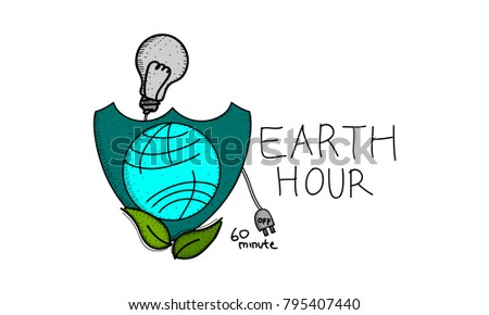 Earth hour logo stock images royalty free images vectors earth hour 60 minute template pronofoot35fo Image collections