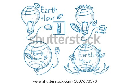 Earth hour logo stock images royalty free images vectors earth hour 60 minute template set pronofoot35fo Image collections