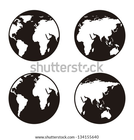 earth icon over white background. vector illustration - stock vector