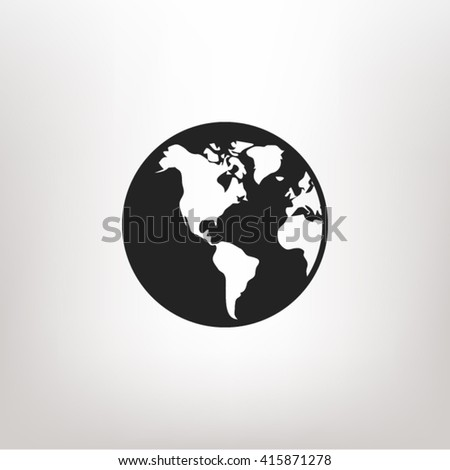 Earth icon vector, earth icon eps10, earth icon illustration, earth icon picture, earth icon flat design, earth icon, earth web icon, earth icon art, earth icon drawing, earth icon, earth icon jpg - stock vector