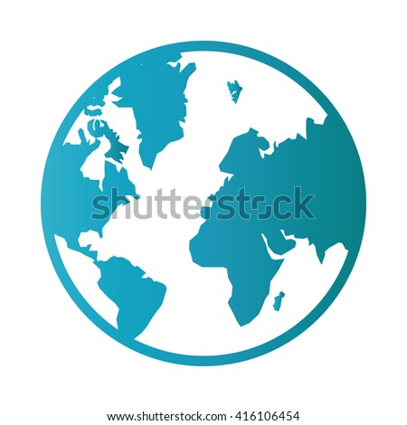 Earth icon Vector Illustration on the white background. - stock vector
