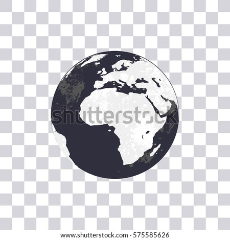 Earth isolated on transparent background globe stock vector earth isolated on transparent background globe world map modern world map vector illustration gumiabroncs Images
