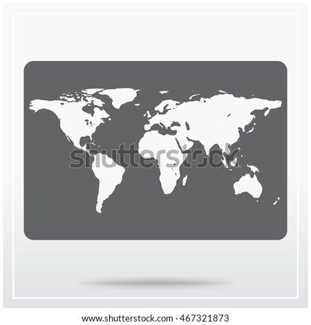 Earth map flat icon graphical symbol stock vector 467321873 earth map flat icon of graphical symbol of world map vector illustration gumiabroncs Images