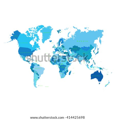 earth map with countries - stock vector