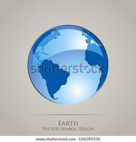 Earth Planet Globe Vector Icon - stock vector