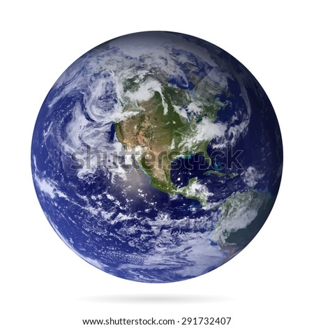 Earth realistic with shadow vector eps10.Elements of this vector furnished by NASA