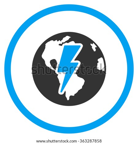 Earth Shock Icon - stock vector