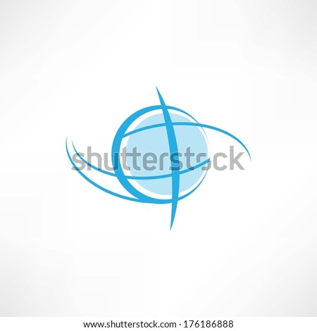 earth symbol - stock vector