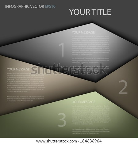 Earth tone background abstract infographic for work plan on colorful and green earth tone background for text and message modern website design , vector - stock vector