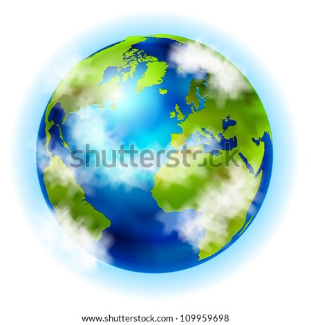 earth vector - stock vector