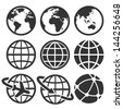 Earth vector icons set. Elements of this image furnished by NASA - stock