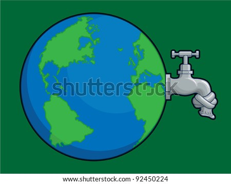 Earth Water Problem - stock vector