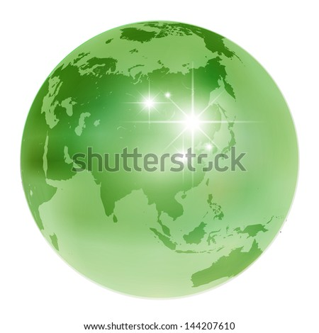 Earth world eco - stock vector