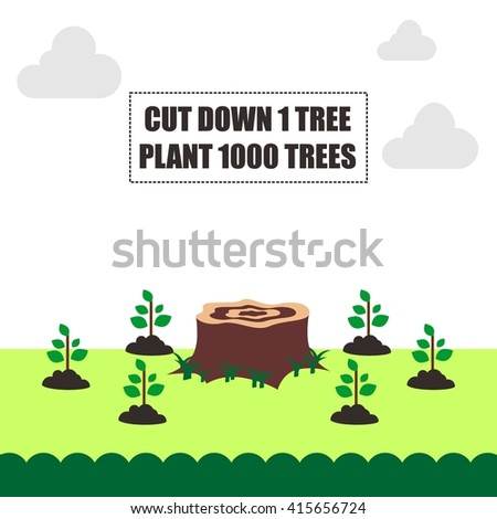 Earthday illustration template Template