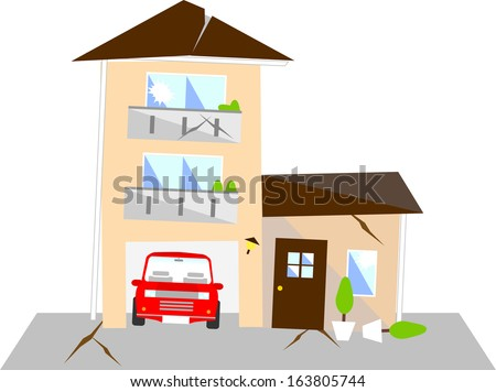 earthquake - stock vector