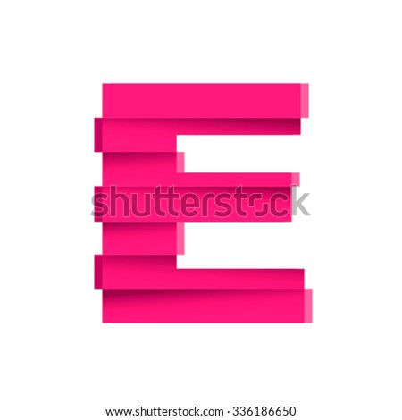Earthquake font, letter E - stock vector