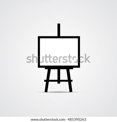 Easel Icon, Mockup for your design, Creative Symbol. Vector