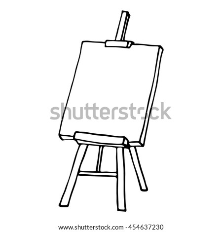 Easel icon. Outlined on white background.
