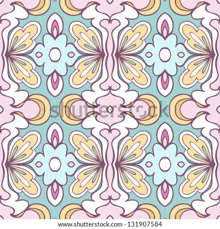 east seamless pattern vector background - stock vector