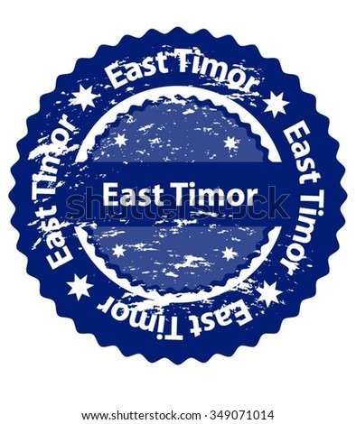 East Tim or Country Grunge Stamp - stock vector