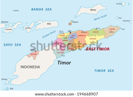 east timor administrative map
